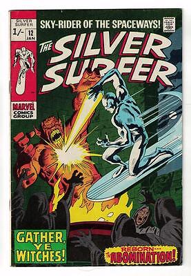 MARVEL Comics SILVER SURFER  Issue #12 Galactus Fantastic four FN- 5.5 1970