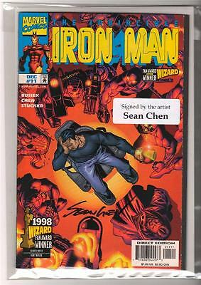 Marvel Comics NEAR MINT 9.6  IRON MAN #11 LIVE FREE AND DIE SIGNED SEAN CHEN