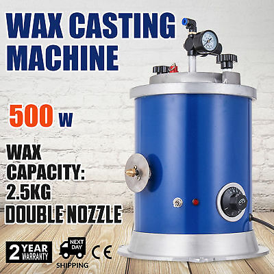 500W Round Wax Injector Jeweler Tool Vacuum Investing and Casting Machine In AU
