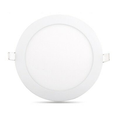 4X(LED Panel Light Ultra Thin Ceiling Recessed Grid Downlight Lamp Round Pane Q4
