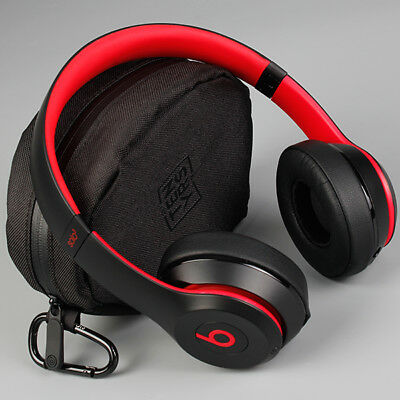 Beats Solo3 Wireless On-Ear Headphones Beats Decade Collection-Defiant Black-Red