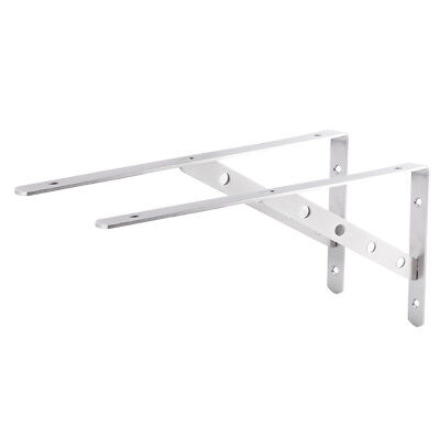 Table Worktop Shelf Support Brackets Wall Mounted Hinge Pair Strong Hold