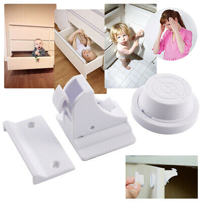 8 x Magnetic Cupboard Locks Baby Child Pet Proof Cabinet Door Safety Kitchen