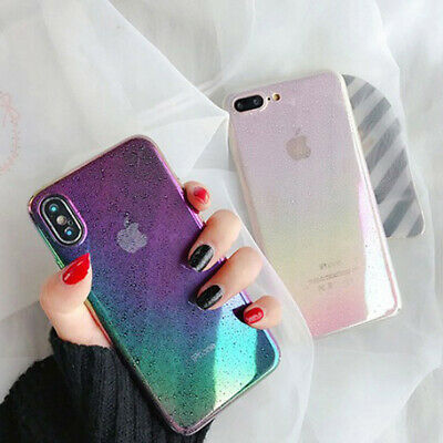 Case For iPhone XR XS MAX X 8 7 6 Plus Funny Water Drop Cover Colorful Gradient