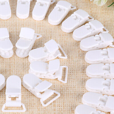 Pack Of 50 Mam White Baby Dummies Soothers Pacifiers Holder Dummy Clips