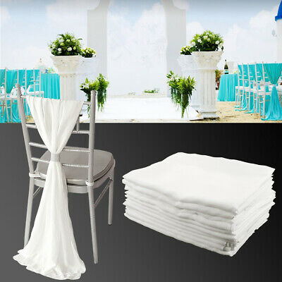 Wondrous Bulk Of 10Pcs Chiffon Vertical Drops Chair Cover Tie Bow Onthecornerstone Fun Painted Chair Ideas Images Onthecornerstoneorg
