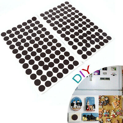 168 Self Adhesive Small Magnets Dots 20mm Disc Round Thick Sticky Craft Magnet