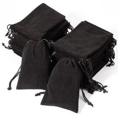 50 Velvet Jewellery Jewelry Drawstring Gift Bag for Earrings Chains Necklaces UK