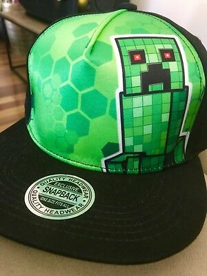 Creeper Minecraft Flat Cap Rare New Release