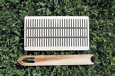 double hole rigid heddle, sami, band weaving, baltic pickup, weaving loom, inkle