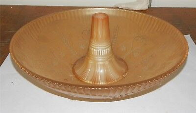 Antique Art Deco Orange Frosted Ceiling Shade with Collar Stunning