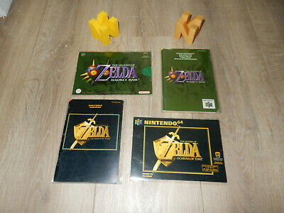 PAL N64: Legend of Zelda: Ocarina of Time + Majora's Mask. cut out Box + Manual