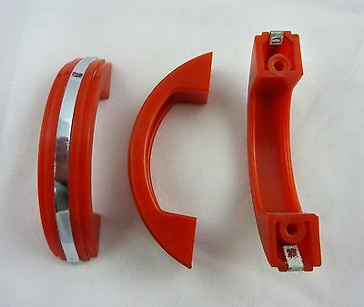 Red Art Deco Plastic Cabinet Drawer Pull