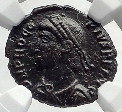 PROCOPIUS Authentic Ancient 365AD Original Ancient Roman Coin Chi-Rho NGC i72067