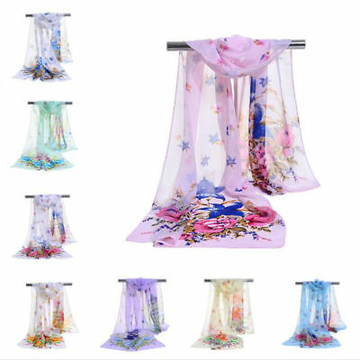 ND_ CN_ FM- Fashion Girl Women Long soft Wrap Scarf Ladies Shawl Chiffon Scarf