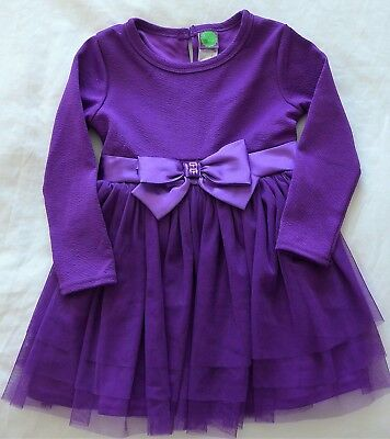 Dollie and Me Purple Girl's Holiday Party Dress w/ Leggings Size 4  NWT