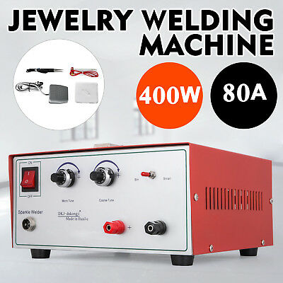 80A 400W Spot Welder Jewelry Welding Machine 110V forceps pulse sparkle red
