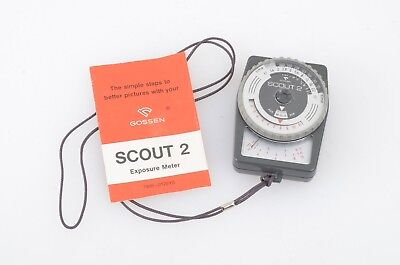 CLEAN & ACCURATE GOSSEN SCOUT 2 INCIDENT LIGHT METER w/INSTRUCTIONS