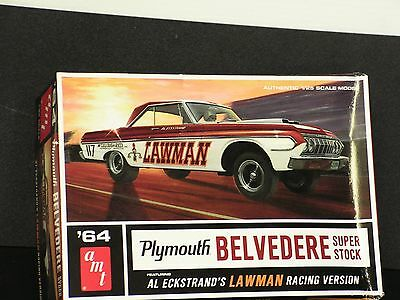 Amt #986 1/25 1964 Plymouth Belvedere Super Stock  Open
