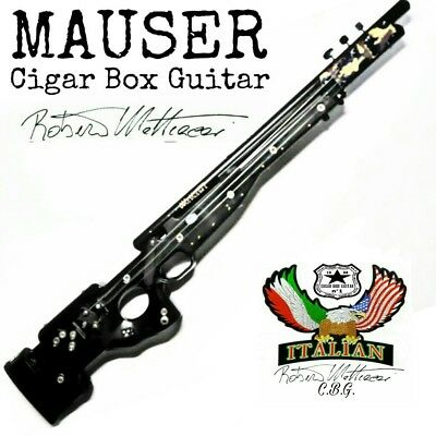 Mauser Cigar Box rifle Guitar by Robert Matteacci Italian Art Luthier