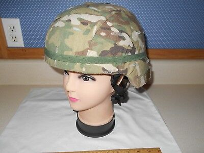 MSA Military Adv. Combat Helmet (ACH), Sz. Large (L-4) w/ OCP Cover & New Band