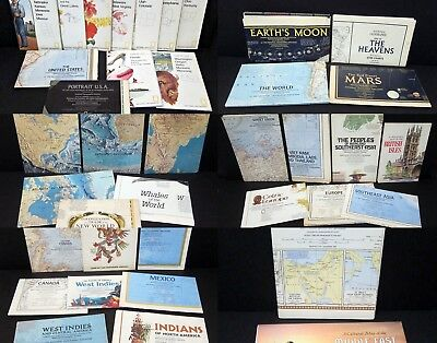 38 NATIONAL GEOGRAPIC MAPS AND FOLDOUTS - 1960's/1970's VINTAGE