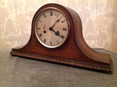 Antique Mantle Clock Nelson Case DUFA MOVEMENT Chiming For Repair 45x23x12cm