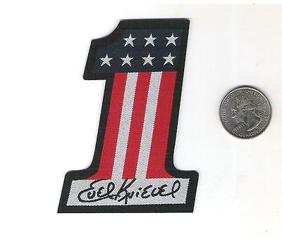 Evel Knievel woven cloth patch