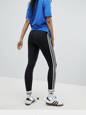 0e78986327321 WOMENS ADIDAS ORIGINALS 3-Stripes Leggings In Black - $27.94 | PicClick