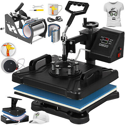 6in1 Digital T-Shirt Heat Press Transfer Cup Plate Sublimation DIY Printer