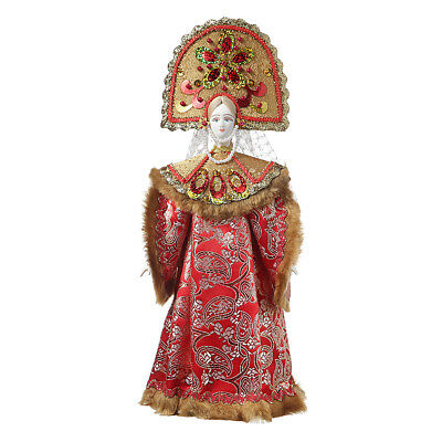 Russian handmade Porcelain Traditional Folk Costume Doll 13'' #22-10