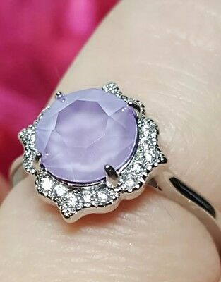 2d9f13c69 Fragrant Jewels Newest SNOW Collection Ring Size 8 Crystal Lilac Swarovski  Gem
