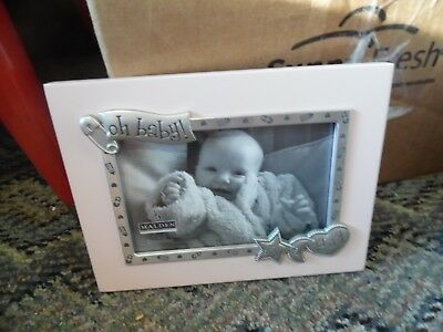 Malden Oh Baby It's a Girl 4 x 6 pink photo frame never used