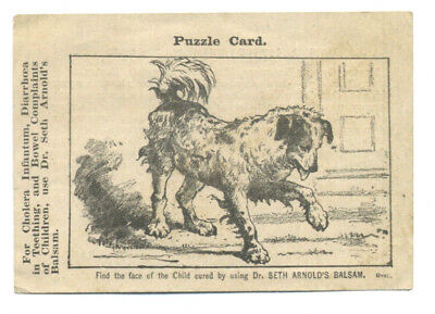 Puzzle trade card -  dr. Seth Arnold's Balsam - find the child
