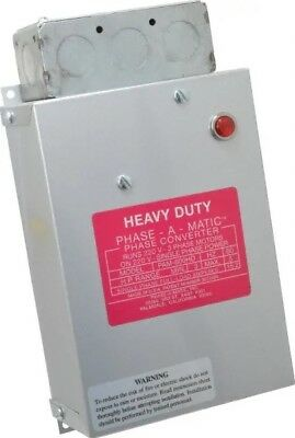 Phase-A-Matic Heavy Duty Phase Converter 3HP to 5HP PAM-600HD