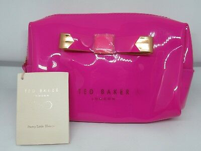 af7d3ddc75 Bnwt Ted Baker London Bright Pink Small Bow Wash Bag Make Up