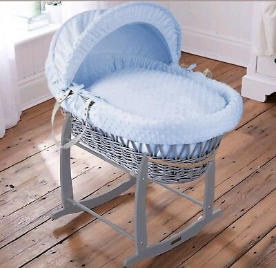 Clair De Lune Marshmallow Moses Basket And Rocking Stand