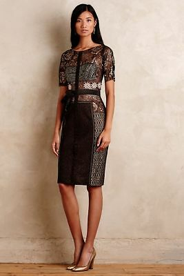 15e6dd2575ea NWT Marguerite Sheath Dress By Byron Lars For Anthropologie - Size 00P XXS