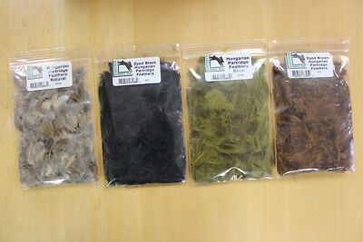 Hareline Dubbin Dyed Hungarian Partridge Feathers
