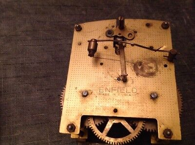 Antique  Enfield Clock Movement Chiming Chime 11x11cm Spare Parts