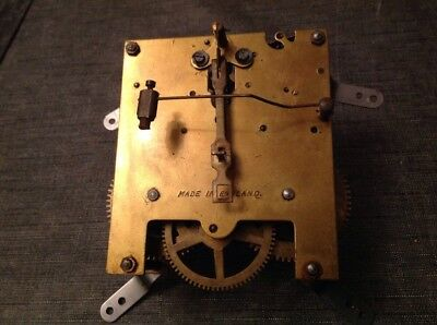 Antique Clock Movement English Chiming Chime 11x11cm Spare Parts