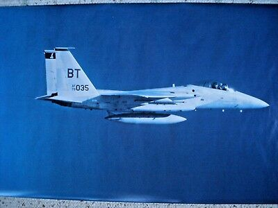 RARE 1986 F-15 EAGLE FIGHTER POSTER 72x26 USAF Vietnam George Hall / Check Six