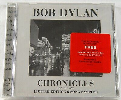 BOB DYLAN - Chronicles CD - Limited Edition 6 Song Sampler NEW/SEALED!  Volume 1