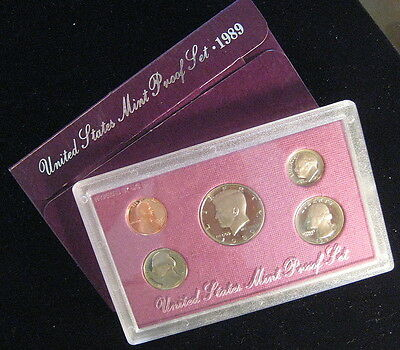 1989  UNITED STATES PROOF COIN SET - * Free Shipping Deal ! * (L155)