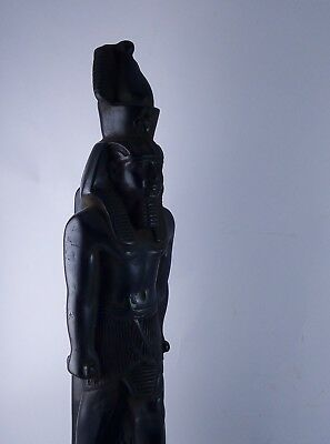 ANCIENT EGYPTIAN STATUE PHARAOH King Ramses Ii the Great Stone Black 1279 Bce