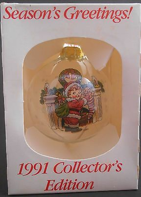 "Campbell's Kids Soup Annual Christmas 3"" Glass Ball Ornament 1991 EUC in Box"