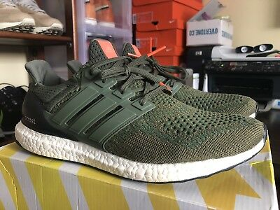 wholesale dealer d7a11 8075a Adidas Ultra Boost 1.0 Olive 11 Triple White Creme Solar Yellow Red Orange  SNS 2