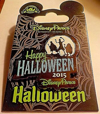 Disney Happy Halloween Haunted Mansion Hitchhiking  Ghosts Silhouette Pin.