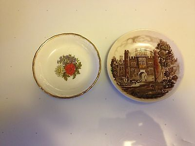 Johnson Bros Vtg Hampton Court Palace Saucer +Regal Heritage Bone china 2 lot