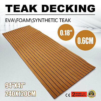 94''x47'' 6MM Brown EVA Foam Boat Flooring Yacht Teak Decking Sheet